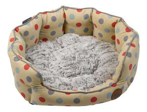 Cream Dots Oval Bed (Large)