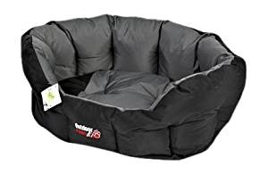 Outdoor Paws Oval Bed Black/Grey (XLarge)
