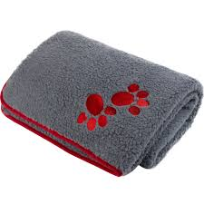Oxford Sherpa Fleece Comforter (Red Paws)