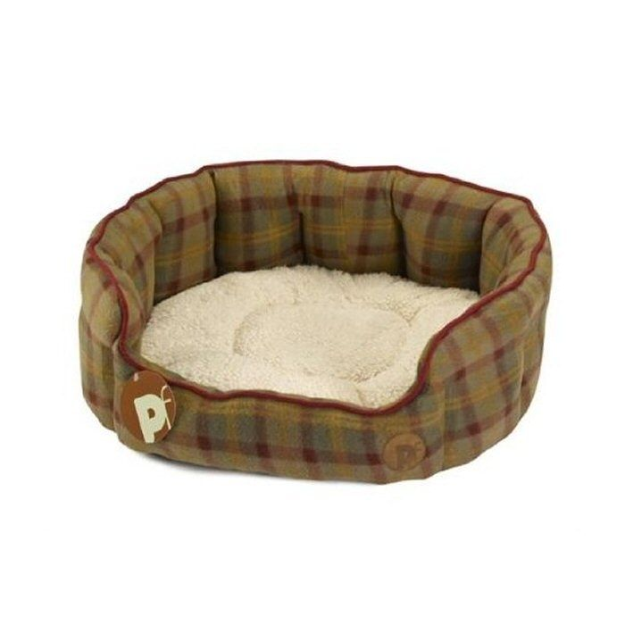 Country Check Oval Bed (Medium)