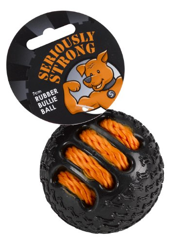 PetFace Seriously Strong Rubber Bullie Ball